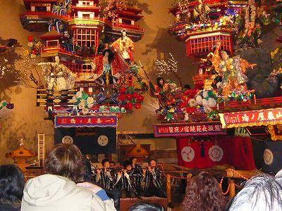 行く年来る年祇園囃子奉納 大分県日田市隈町