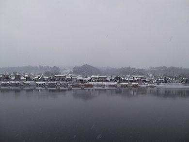 すごい雪景色 日田温泉 亀山亭ホテル