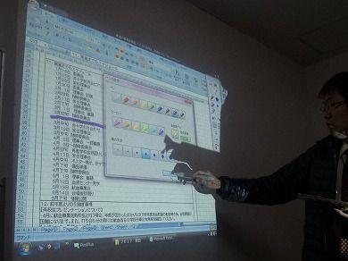 プロジェクター電子黒板