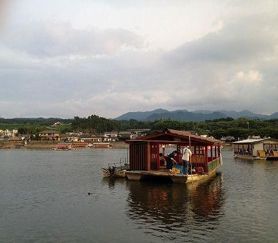 大分県日田市・昨日の屋形船 20120729